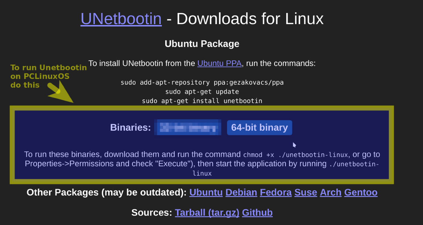 SOLVED) How to get unetbootin on Pclinuxos