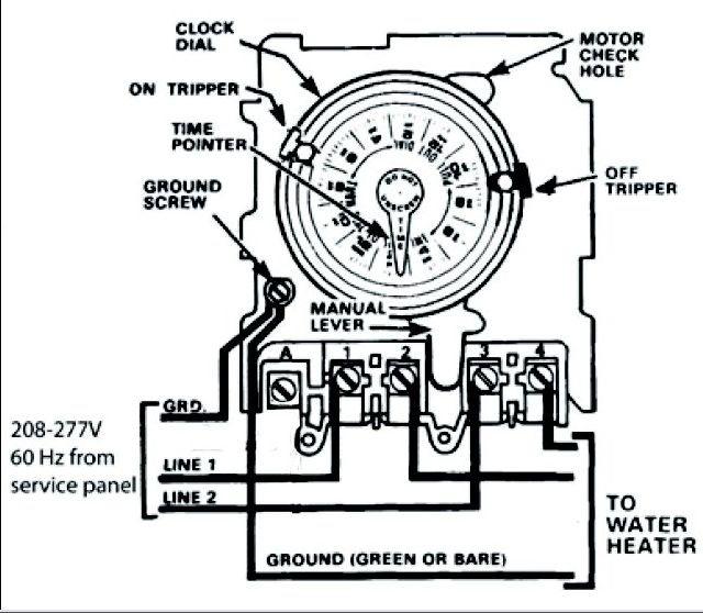 time clock wiring diagram for mechanical need help wiring an intermatic wh40 water heater time ... #1