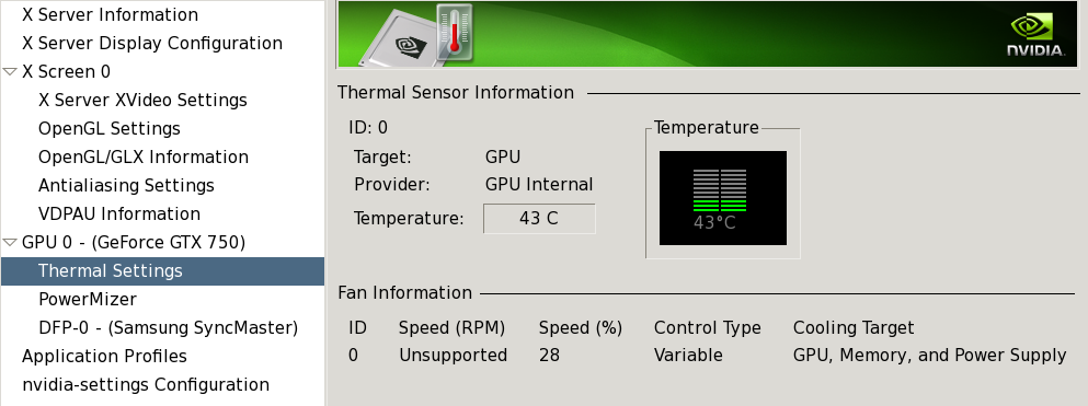 Reading Nvidia Fan Speed - RPM