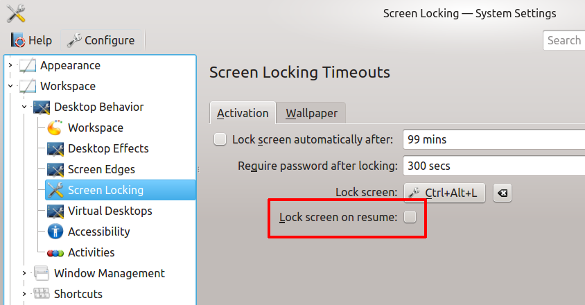 solved how to lock screen on resume